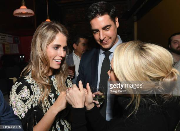 Jillian Cardarelli Jesse Watters and Dana Perino attend the after party for Jillian Cardarelli's performance at Rockwood Music Hall on February 20...