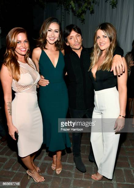 Jillian Cherry Anessa Hernandez Ken Paves and Brittany Stevens at the grand opening of the new Ken Paves Salon hosted by Eva Longoria on October 23...