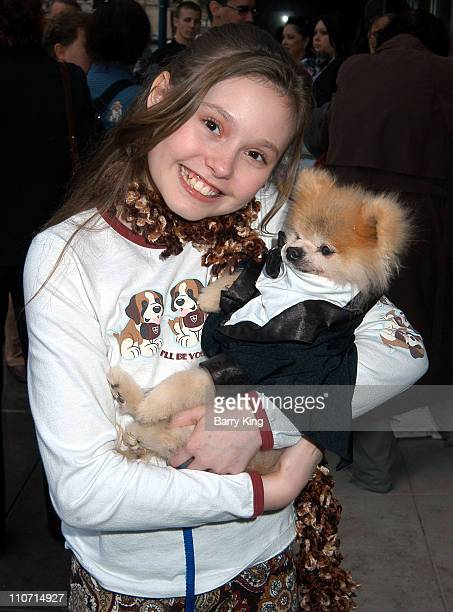 Jillian Clare and Gizmo during Rescue Me Charity Benefit at Donald J Pliner Store in Beverly Hills CA United States
