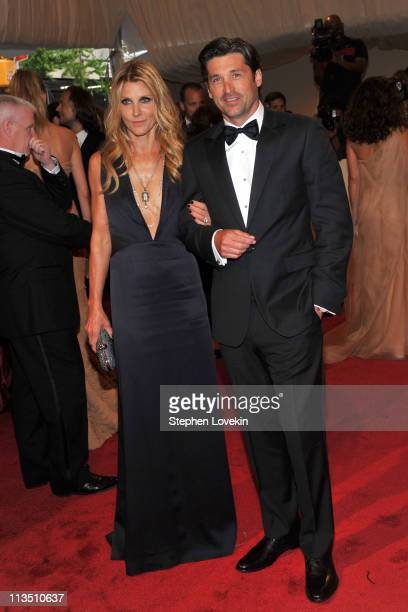 d66f01a0afc Jillian Dempsey and actor Patrick Dempsey attend the Alexander McQueen  Savage Beauty Costume Institute Gala at.