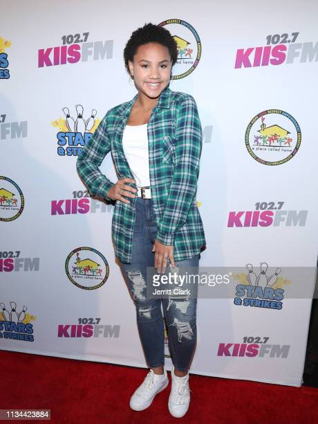 Jillian Estell attends A Place Called Home's Annual Stars And Strikes Celebrity Bowling And Poker Tournament at PINZ Bowling & Entertainment Center...