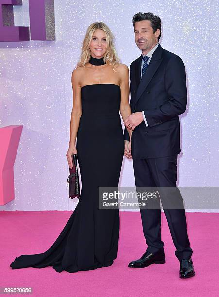 "Jillian Fink and Patrick Dempsey attend the ""Bridget Jones's Baby"" world premiere at the Odeon Leicester Square on September 5, 2016 in London,..."