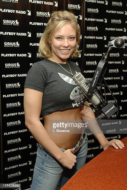 Jillian Grace host of The Playmate Hour during Playboy Playmates Promote Playboy Radio the New Channel at Sirius Satellite Radio at Sirius Satellite...