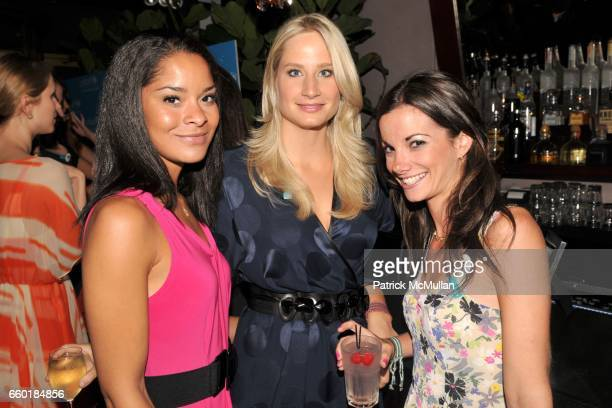 Jillian Gumbel Caroline Johnston Polisi and Danielle Abraham attend UNICEF's Next Generation Launch Event at The Gates on July 23 2009 in New York...