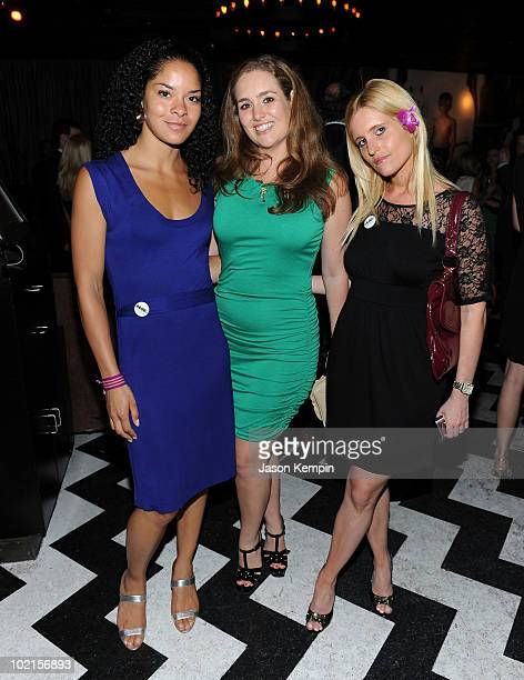 Jillian Gumbel Gillian Hearst Simonds and Jen Marden attend the benefit for UNICEF's recovery efforts in Haiti at 1OAK on June 16 2010 in New York...