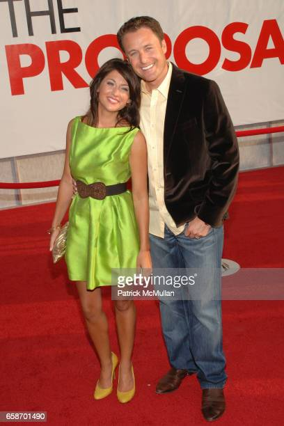 "Jillian Harris and Chris Harrison attend ""The Proposal"" Los Angeles Premiere at El Capitan Theatre on June 1, 2009 in Hollywood, California."