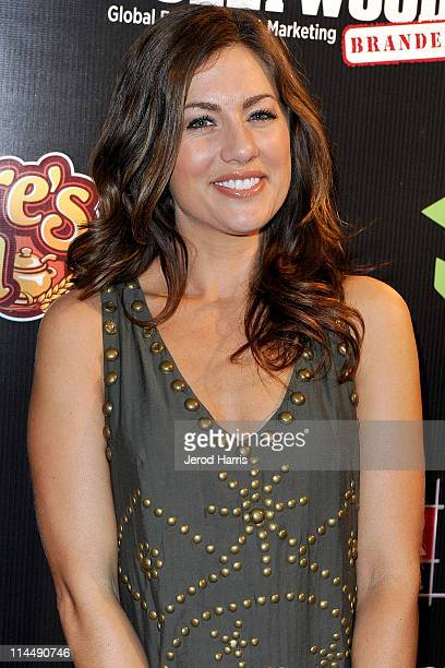 Jillian Harris arrives at ABC's Extreme Makeover Home Edition Benefiting Habitat For Humanity Los Angeles on May 21 2011 in Culver City California