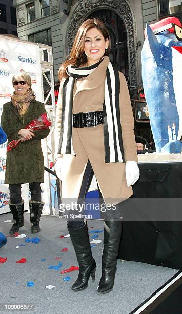 Jillian Harris attends Charlie the Tuna's 50th birthday celebration at Military Island, Times Square on February 11, 2011 in New York City.