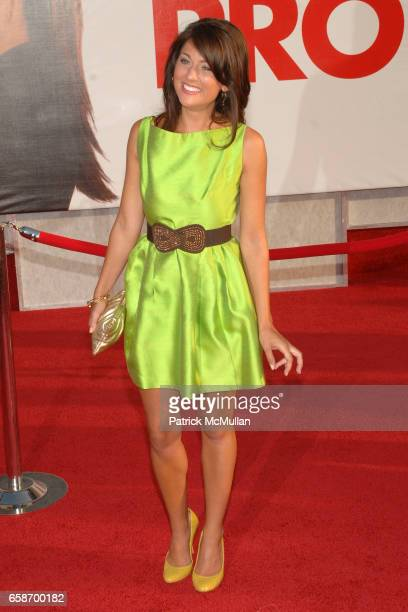 Jillian Harris attends The Proposal Los Angeles Premiere at El Capitan Theatre on June 1 2009 in Hollywood California
