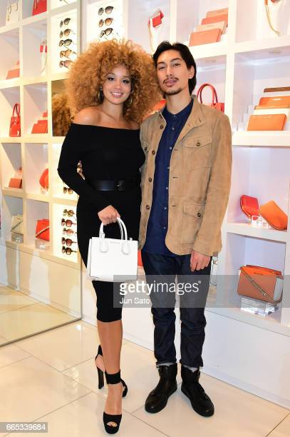 11edf289532f Jillian Hervey and Lucas Goodman of Lion Babe attend the Michael Kors  Omotesando Store during