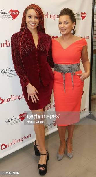 Jillian Hervey and mother Vanessa Williams pose at The 7th Annual #KnockOutHeartDisease Campaign Launch at Burlington Union Square on February 6 2018...