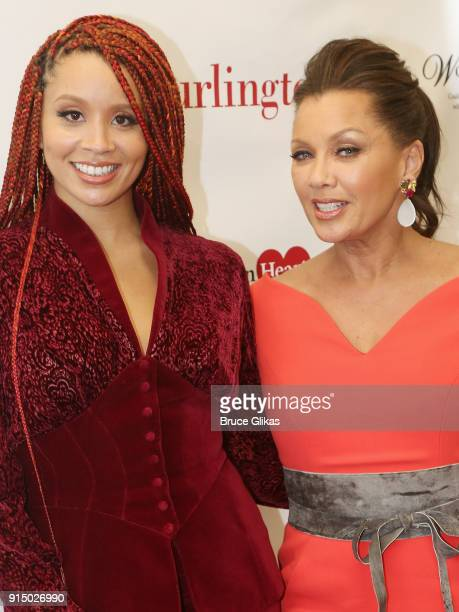 Jillian Hervey and mother Vanessa Williams pose at The 7th Annual #KnockOutHeartDisease Campaign Launch at Burlington Union Square on February 6,...