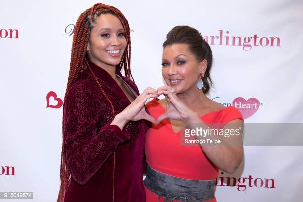 Jillian Hervey and Vanessa Williams team up with WomenHeart for the fight against heart disease in women at Burlington Union Square on February 6,...