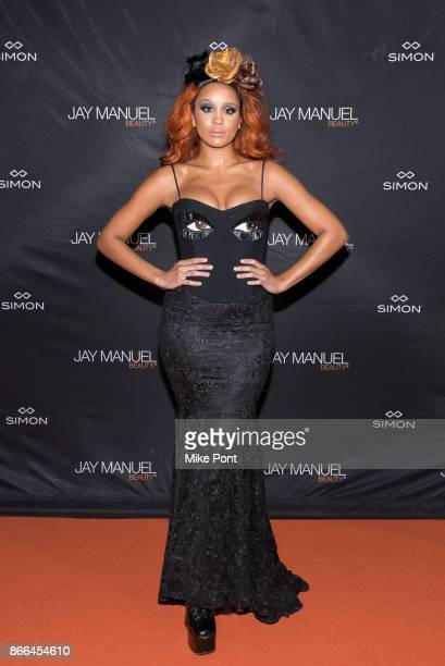 Jillian Hervey attends the Jay Manuel Beauty x Simon launch event at Highline Stages on October 25 2017 in New York City