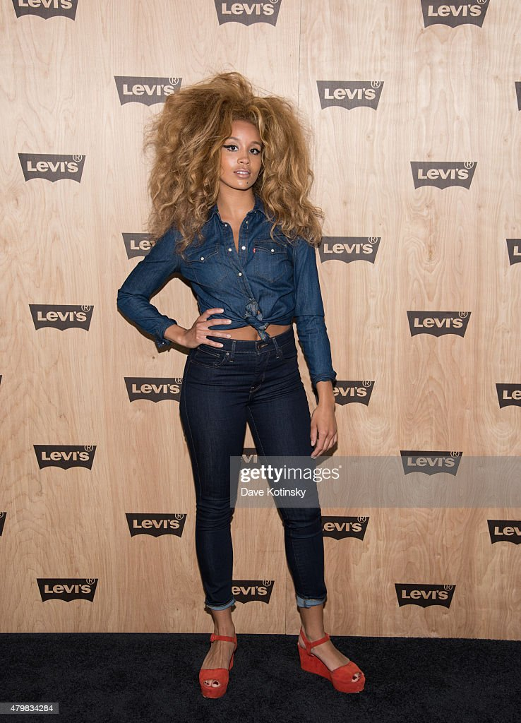 Jillian Hervey attends the Levi's Women's Collection Exhibition Launch at The Levi's Store Times Square on July 7, 2015 in New York City.