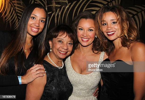 Jillian Hervey grandmother Helen Williams daughter Vanessa Williams and daughter Melanie Hervey attend the after party for the Broadway opening night...