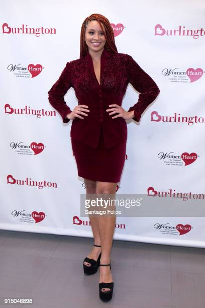 Jillian Hervey teams up with WomenHeart for the fight against heart disease in women at Burlington Union Square on February 6, 2018 in New York City.
