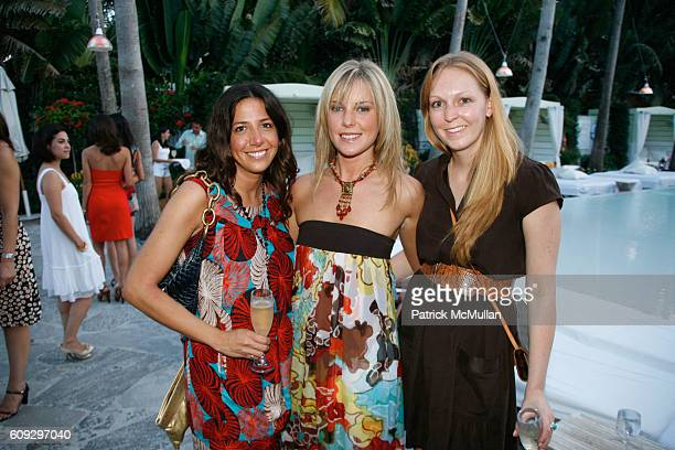 Jillian Horan Chantal Rosen and Paige Licklider attend Launch of Diane von Furstenberg Soleil Swim and Beach Collection at The Delano on July 13 2007