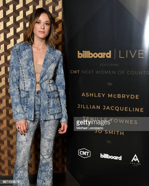 Jillian Jacqueline attends Billboard Live Featuring CMT Next Women Of Country at Analog at the Hutton Hotel on June 4 2018 in Nashville Tennessee