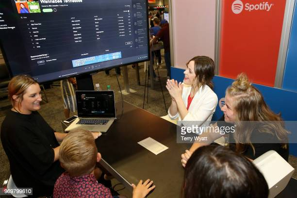 Jillian Jacqueline attends the Spotify's Music Streaming Lounge at Music City Convention Center on June 8 2018 in Nashville Tennessee