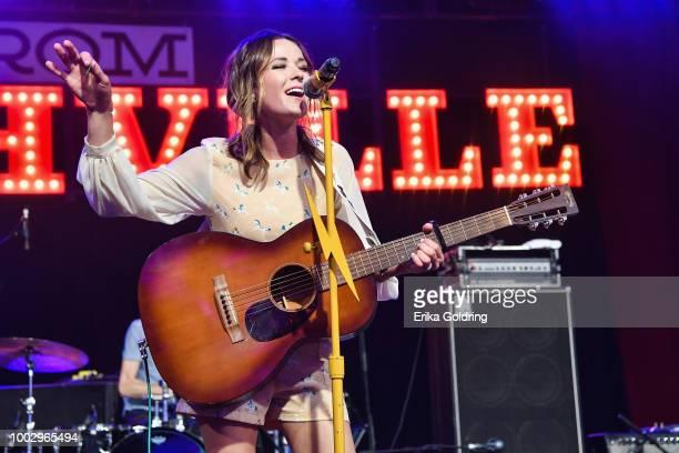 Jillian Jacqueline performs at Michigan International Speedway on July 20 2018 in Brooklyn Michigan