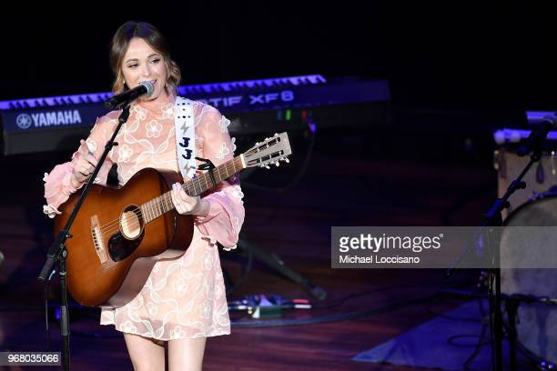 Jillian Jacqueline performs on stage at the 14th Annual Stars For Second Harvest Benefit at Ryman Auditorium on June 5 2018 in Nashville Tennessee