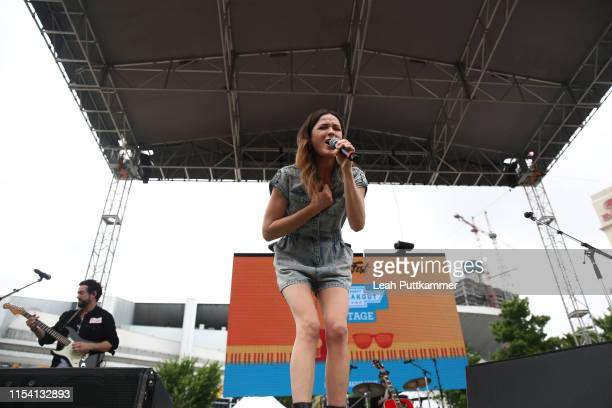 Jillian Jacqueline performs on the Chevy Breakout Stage on Day 1 of CMAfest on June 06 2019 in Nashville Tennessee