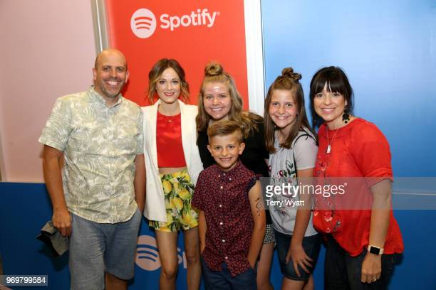 Jillian Jacqueline poses with guests at the Spotify's Music Streaming Lounge at Music City Convention Center on June 8 2018 in Nashville Tennessee