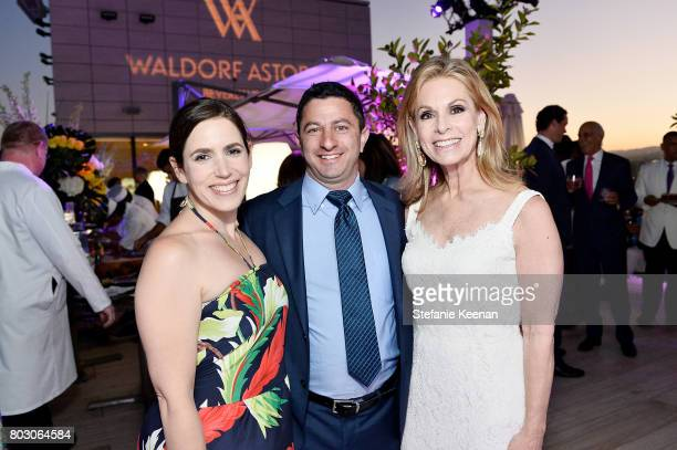Jillian Levy Paul Levy and Adele Alagem attend Waldorf Astoria Beverly Hills Grand Opening Cocktail Celebration on June 28 2017 in Beverly Hills...