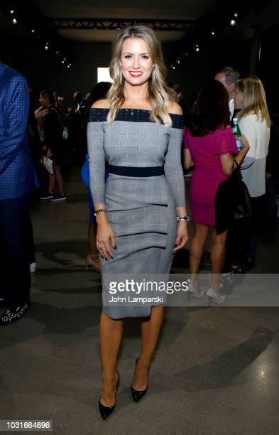 Jillian Mele attends the Chiara Boni La Petite Robe front Row during New York Fashion Week The Shows at Gallery II at Spring Studios on September 11...
