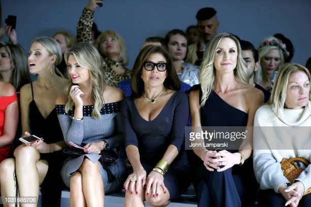 Jillian Mele Jeanine Pirro and Lara Trump attend the Chiara Boni La Petite Robe front Row during New York Fashion Week The Shows at Gallery II at...