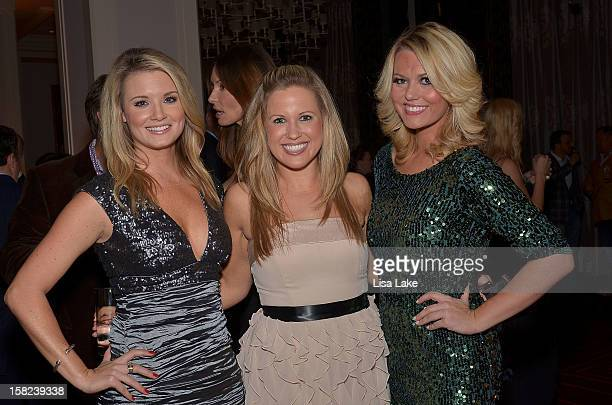 Jillian Mele Julie Buns and Meredith Fertig attend Philadelphia Style Magazine Holiday Issue cover event hosted by Josie Maran on December 11 2012 in...