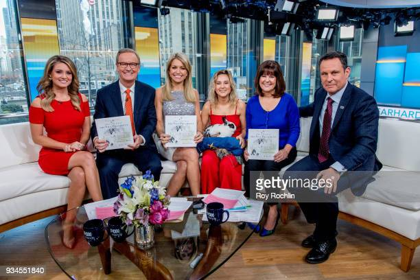 Jillian Mele Steve Doocy Ainsley Earhardt Charlotte Pence Karen Pence Brian Kilmeade and the Pence family Bunny Maroln Bundo visit Fox Friends to...