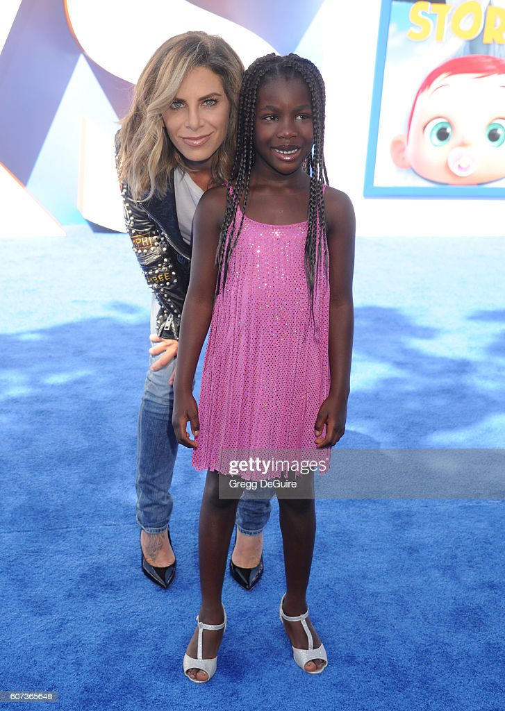 Jillian Michaels and daughter Lukensia Michaels Rhoades arrive at the premiere of Warner Bros. Pictures' 'Storks' at Regency Village Theatre on September 17, 2016 in Westwood, California.
