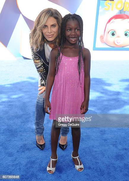 Jillian Michaels and daughter Lukensia Michaels Rhoades arrive at the premiere of Warner Bros Pictures' 'Storks' at Regency Village Theatre on...