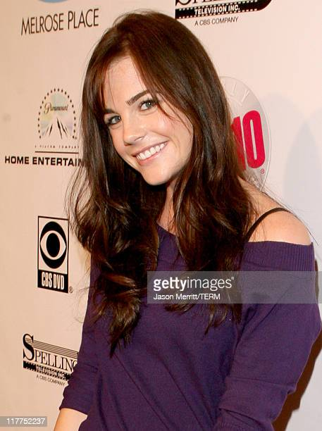 Jillian Murray during 'Beverly Hills 90210' and 'Melrose Place' DVD Launch Party Pink Carpet at Beverly Hilton in Beverly Hills California United...