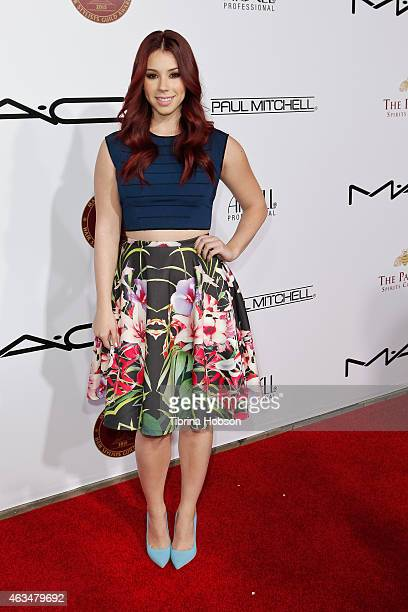 Jillian Rose Reed attends the makeup artists hair stylists Guild Awards at Paramount Theater on the Paramount Studios lot on February 14 2015 in...