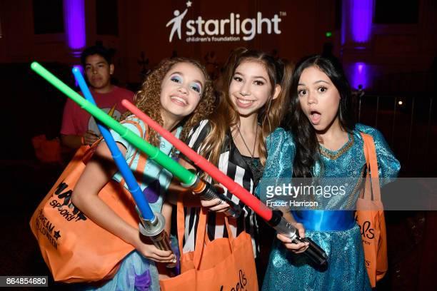Jillian Shea Spaeder Lulu Lambros and Jenna Ortega at the Dream Halloween 2017 Costume Party Benefitting Starlight Children's Foundation presented by...