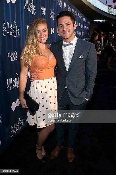 Jillian Sipkins and magician Justin Willman attend Hilarity for Charity's annual variety show James Franco's Bar Mitzvah benefiting the Alzheimer's...