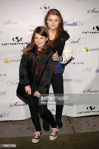 Jillian Staub and Christine Staub attend Social Launch Party at Greenhouse on February 8 2011 in New York City