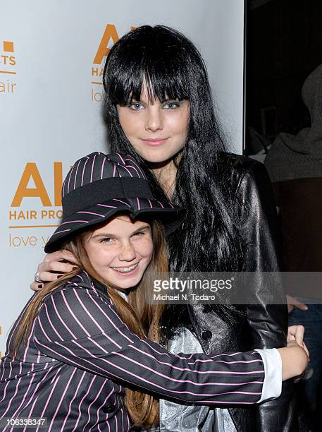 Jillian Staub and Christine Staub attend the Halloween Disco Ball at Eric Alt Salon on October 28 2010 in WoodRidge New Jersey