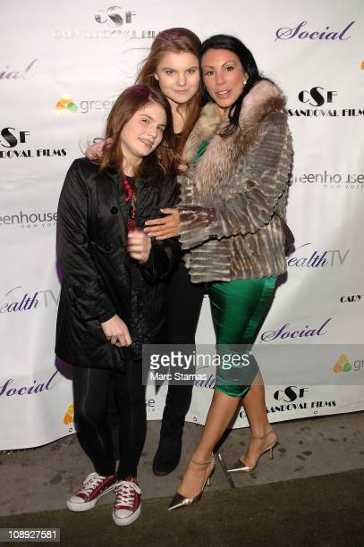 Jillian Staub Christine Staub and Danielle Staub attend Social Launch Party at Greenhouse on February 8 2011 in New York City
