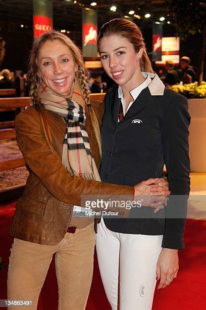 Jillie Mack and her daughter Hannah Selleck attend the International Gucci Masters Competition Day 2 on December 3 2011 in Villepinte France