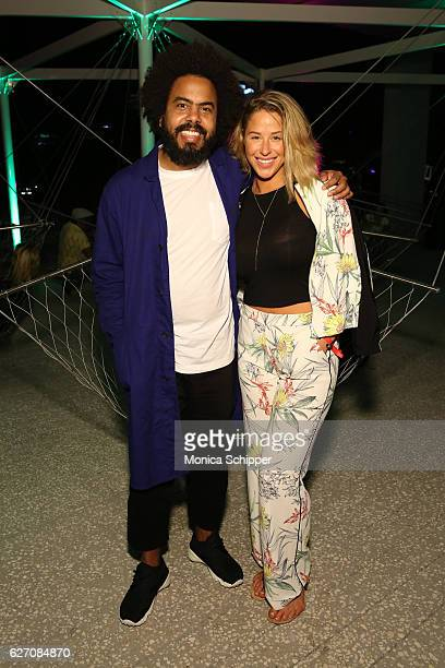 Jillionaire and artist Kennedy Yanko attend PAMM Presents Cashmere Cat Jillionaire and Special Guest Uncle Luke on December 1 2016 in Miami Florida