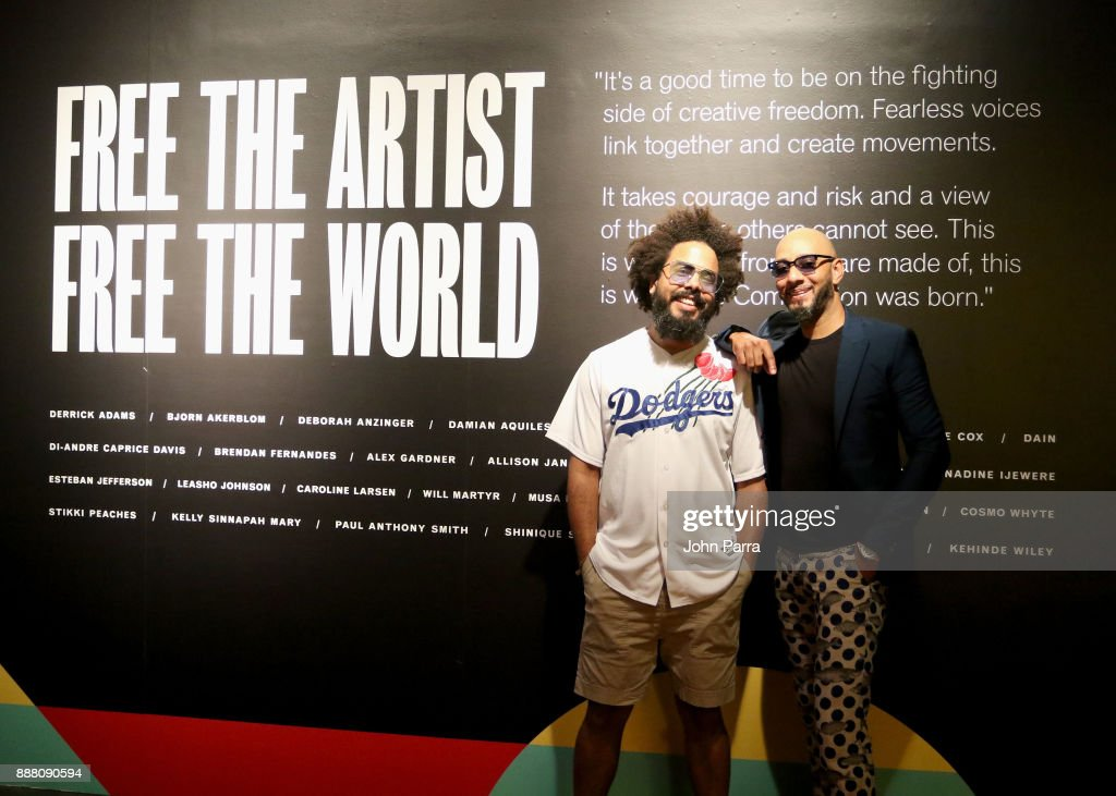 Jillionaire and Swizz Beatz attend the VIP Preview of BACARDI, Swizz Beatz And The Dean Collection Bring NO COMMISSION Back To Miami To Celebrate 'Island Might' at Soho Studios on December 7, 2017 in Miami, Florida.