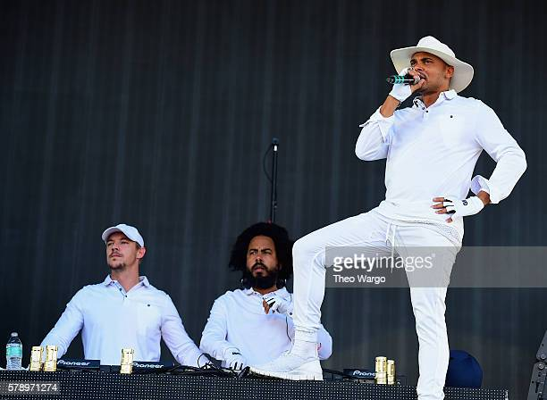 Jillionaire Diplo and Walshy Fire of Major Lazer performs onstage at the 2016 Panorama NYC Festival Day 1 at Randall's Island on July 22 2016 in New...