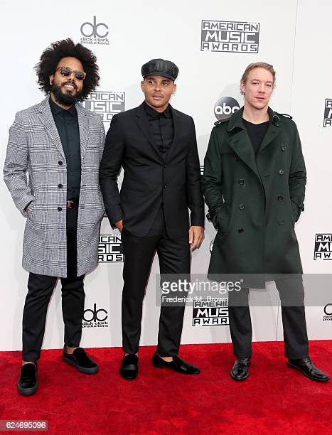 Jillionaire Walshy Fire and Diplo of musical group Major Lazer attend the 2016 American Music Awards at Microsoft Theater on November 20 2016 in Los...
