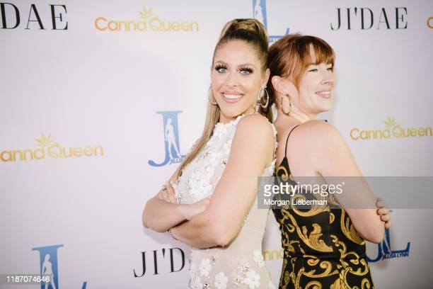 Jillisa Lynn and Katie Bettini arrive at Jillisa Lynn's Don't Bother music video release party at Yamashiro Hollywood on November 11 2019 in Los...