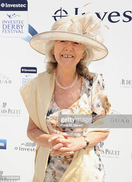 Jilly Cooper attends Investec Derby Day at the Investec Derby Festival at Epsom Downs Racecourse on June 4 2011 in Epsom England
