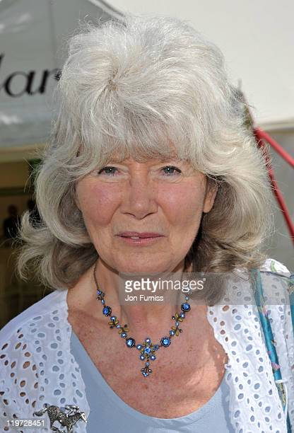 Jilly Cooper attends the Cartier International Polo Day 2011 at Guards Polo Club in Windsor Great Park on July 24 2011 in Egham England